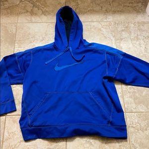 Blue Nike hooded sweatshirt